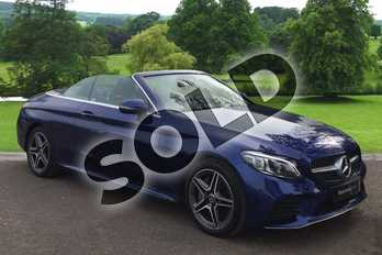 Mercedes-Benz C Class Diesel C300d AMG Line Premium 2dr 9G-Tronic in brilliant blue metallic at Mercedes-Benz of Hull