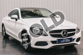 Mercedes-Benz C Class Diesel C220d Sport Premium Plus 2dr Auto in Solid - Polar white at Listers Jaguar Solihull