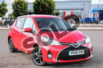 Toyota Yaris 1.33 VVT-i Design 5dr in Chilli Red at Listers Toyota Cheltenham