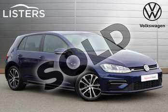 Volkswagen Golf Diesel 2.0 TDI R-Line 5dr DSG in Atlantic Blue at Listers Volkswagen Loughborough