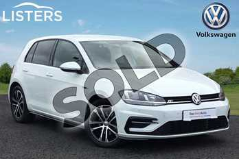 Volkswagen Golf Diesel 2.0 TDI R-Line 5dr DSG in Pure white at Listers Volkswagen Loughborough
