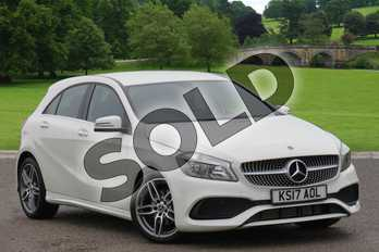 Mercedes-Benz A Class Diesel A180d AMG Line 5dr in Cirrus White at Mercedes-Benz of Boston