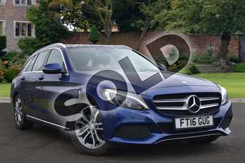 Mercedes-Benz C Class Diesel C220d Sport Premium 5dr Auto in Brilliant Blue Metallic at Mercedes-Benz of Lincoln
