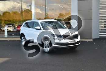 Skoda Kodiaq Diesel 2.0 TDI 190 Edition 4x4 5dr DSG (7 Seat) in White at Listers Land Rover Hereford