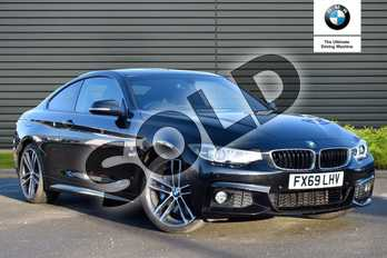 BMW 4 Series 430i M Sport 2dr Auto (Professional Media) in Black Sapphire metallic paint at Listers Boston (BMW)