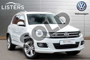 Volkswagen Tiguan Diesel 2.0 TDI BlueMotion Tech R Line Edition 150 5dr in White at Listers Volkswagen Coventry