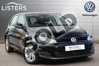 Volkswagen Golf Diesel 1.6 TDI 105 SE 5dr in Deep black at Listers Volkswagen Leamington Spa