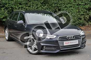 Audi A4 Diesel 2.0 TDI 190 S Line 5dr in Moonlight Blue Metallic at Worcester Audi