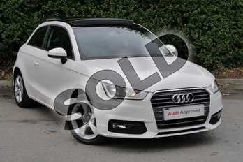 Audi A1 1.0 TFSI Sport 3dr in Shell White at Worcester Audi