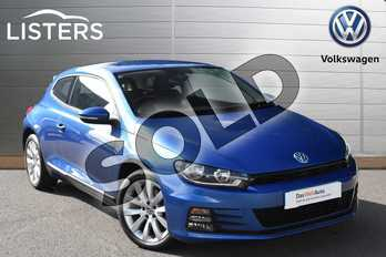 Volkswagen Scirocco 1.4 TSI BlueMotion Tech 3dr in Rising Blue at Listers Volkswagen Evesham