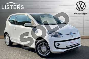 Volkswagen Up 1.0 High Up 3dr in Pure White at Listers Volkswagen Stratford-upon-Avon
