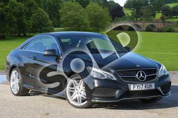 Mercedes-Benz E Class Diesel E350d AMG Line Edition 2dr 9G-Tronic in Obsidian Black metallic at Mercedes-Benz of Boston