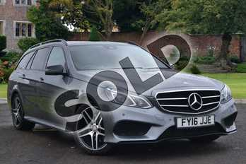 Mercedes-Benz E Class Diesel E220 BlueTEC AMG Night Edition 5dr 7G-Tronic in Selenite Grey metallic at Mercedes-Benz of Lincoln