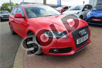 Audi A3 Special Editions 2.0 TDI Black Edition 5dr in Pearl - Misano Red at Listers Toyota Grantham