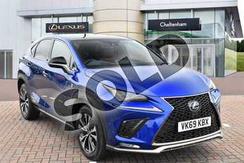 Lexus NX 300h 2.5 F-Sport 5dr CVT (Premium Pack/Leather) in Sapphire Blue at Lexus Cheltenham