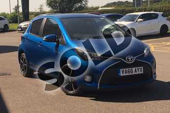 Toyota Yaris 1.33 VVT-i Design 5dr in Island Blue at Listers Toyota Cheltenham