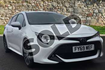 Toyota Corolla Touring Sport 1.2T VVT-i Design 5dr in Pure White at Listers Toyota Grantham