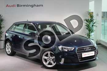 Audi A3 1.4 TFSI Sport 5dr in Cosmos blue, metallic at Birmingham Audi