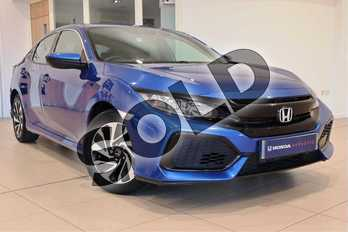 Honda Civic 1.0 VTEC Turbo SE 5dr in Brilliant Sporty Blue at Listers Honda Northampton