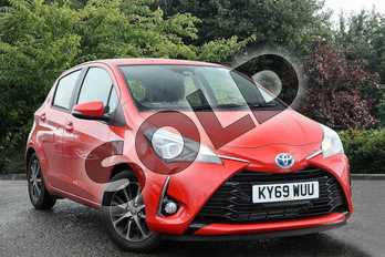 Toyota Yaris 1.5 Hybrid Icon Tech 5dr CVT in Red at Listers Toyota Nuneaton