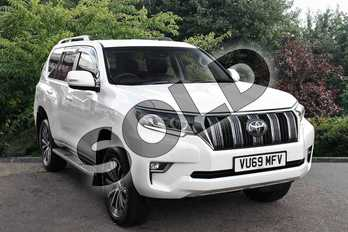 Toyota Land Cruiser Diesel SW 2.8 D-4D Icon 5dr Auto 7 Seats in White at Listers Toyota Stratford-upon-Avon