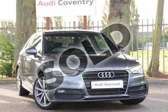 Audi A3 Diesel 2.0 TDI 184 S Line 3dr in Daytona Grey Pearlescent at Coventry Audi