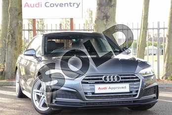Audi A5 Diesel 2.0 TDI Quattro S Line 5dr S Tronic in Daytona Grey Pearlescent at Coventry Audi
