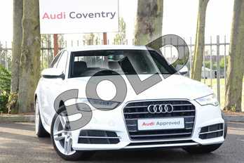 Audi A6 Diesel 2.0 TDI Ultra S Line 4dr S Tronic in Ibis White at Coventry Audi