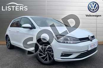 Volkswagen Golf 1.5 TSI EVO 150 Match 5dr in Pure White at Listers Volkswagen Stratford-upon-Avon
