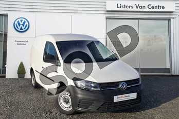 Volkswagen Caddy C20 Diesel 2.0 TDI BlueMotion Tech 75PS Startline Van in Candy White at Listers Volkswagen Van Centre Coventry