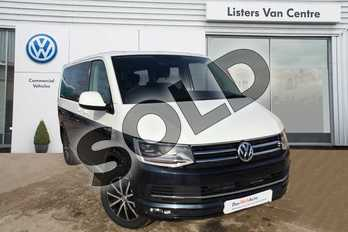 Volkswagen Caravelle Diesel 2.0 TDI BlueMotion Tech 199 Executive 5dr DSG in Candy White Upper / Starlight Blue Lower at Listers Volkswagen Van Centre Coventry