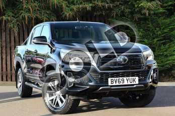Toyota Hilux Diesel Invincible X D/Cab Pick Up 2.4 D-4D Auto in Black at Listers Toyota Coventry