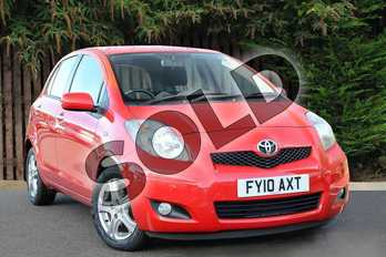 Toyota Yaris 1.33 VVT-i TR 5dr (6) in Red Pop at Listers Toyota Coventry