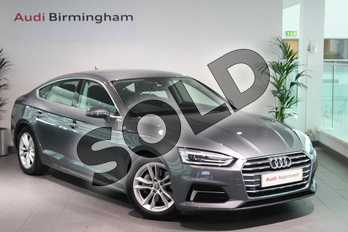 Audi A5 Diesel 2.0 TDI Ultra Sport 5dr S Tronic in Monsoon Grey Metallic at Birmingham Audi