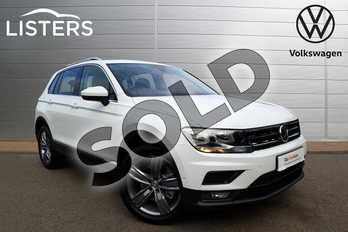 Volkswagen Tiguan 2.0 TDI 190 4Motion Match 5dr DSG in Pure white at Listers Volkswagen Coventry