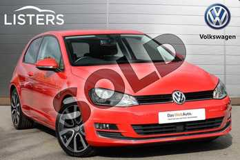 Volkswagen Golf 1.4 TSI 150 GT 3dr in Tornado Red at Listers Volkswagen Leamington Spa