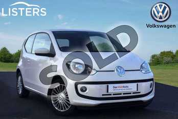 Volkswagen Up 1.0 High Up 3dr in Candy White at Listers Volkswagen Loughborough