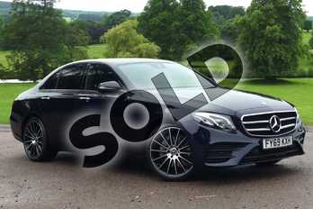Mercedes-Benz E Class E220d AMG Line Night Edition Prem + 4dr 9G-Tronic in Cavansite Blue Metallic at Mercedes-Benz of Grimsby