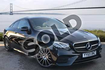 Mercedes-Benz E Class Diesel E400d 4Matic AMG Line Premium Plus 2dr 9G-Tronic in obsidian black metallic at Mercedes-Benz of Hull