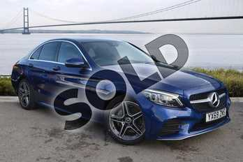 Mercedes-Benz C Class C200 AMG Line Premium 4dr 9G-Tronic in brilliant blue metallic at Mercedes-Benz of Hull