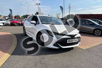 Toyota Corolla 1.2T VVT-i Design 5dr in Pure White at Listers Toyota Coventry