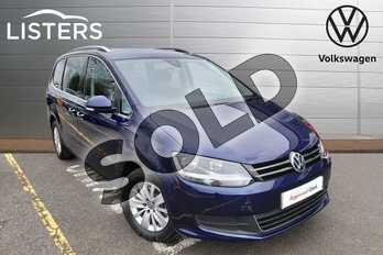 Volkswagen Sharan 2.0 TDI CR BlueMotion Tech 150 SE Nav 5dr in Atlantic Blue at Listers Volkswagen Evesham