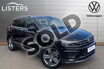 Volkswagen Tiguan 2.0 TDI 150 4Motion SEL 5dr DSG in Deep Black at Listers Volkswagen Leamington Spa