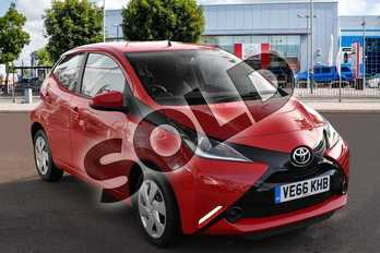 Toyota AYGO 1.0 VVT-i X-Play 5dr in Chilli Red at Listers Toyota Cheltenham