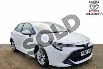 Toyota Corolla 1.2T VVT-i Icon Tech 5dr in Pure White at Listers Toyota Cheltenham