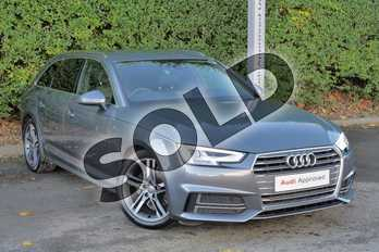 Audi A4 1.4T FSI S Line 5dr (Leather/Alc) in Monsoon Grey Metallic at Worcester Audi