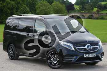 Mercedes-Benz V Class Diesel V220 d AMG Line 5dr 9G-Tronic (Long) in obsidian black metallic at Mercedes-Benz of Boston