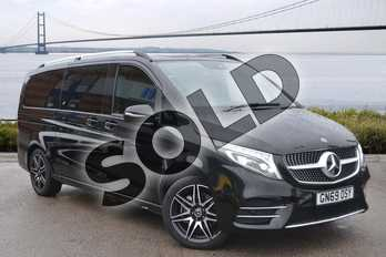 Mercedes-Benz V Class Diesel V300 d AMG Line 5dr 9G-Tronic (Extra Long) in obsidian black metallic at Mercedes-Benz of Hull