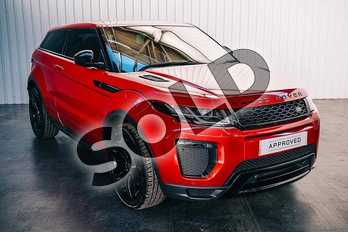 Range Rover Evoque Diesel 2.0 TD4 HSE Dynamic 3dr Auto in Firenze Red at Listers Land Rover Solihull
