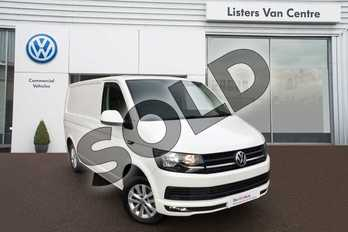 Volkswagen Transporter T28 SWB Diesel 2.0 TDI BMT 102 Highline Van Euro 6 in Candy White at Listers Volkswagen Van Centre Coventry